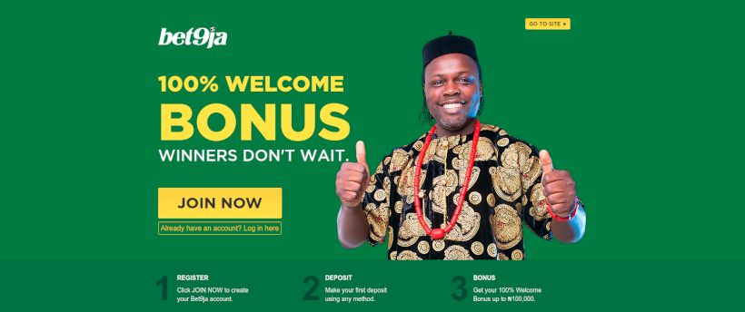 Bet9ja homepage
