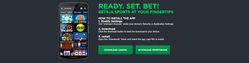 Bet9ja mobile casino