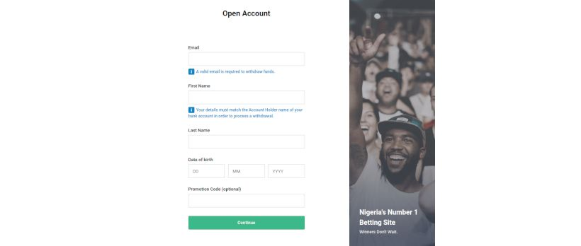 How to open a Bet9ja account